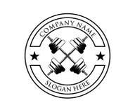 διασχισμένο σχέδιο αθλητικών λογότυπων γυμναστικής ικανότητας βάρβων απεικόνιση αποθεμάτων