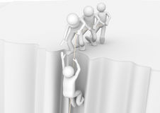 Διασώζοντας το άτομο επάνω από την άβυσσο - έννοιες απεικόνιση αποθεμάτων