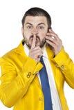 Διαταγές επιχειρηματιών να είναι ήρεμος Στοκ εικόνες με δικαίωμα ελεύθερης χρήσης