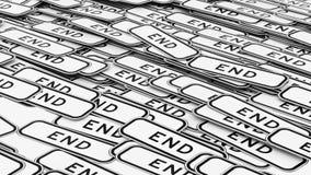 Διαταγμένος σωρός των σημαδιών κυκλοφορίας τελών Στοκ Εικόνα