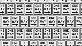 Διαταγμένο πλέγμα του δικαιώματος που δείχνει τα σημάδια ενός τρόπου σε έναν τοίχο διανυσματική απεικόνιση