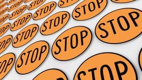 Διαταγμένο πλέγμα των πορτοκαλιών σημαδιών στάσεων Στοκ φωτογραφία με δικαίωμα ελεύθερης χρήσης