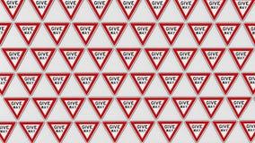 Διαταγμένο πλέγμα Give Way των σημαδιών Στοκ εικόνες με δικαίωμα ελεύθερης χρήσης