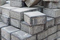 Γκρίζα τετραγωνικά τούβλα πεζοδρομίων Στοκ εικόνες με δικαίωμα ελεύθερης χρήσης