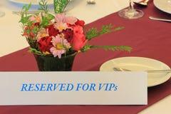 Διατηρημένο πιάτο για VIP's Στοκ Εικόνες
