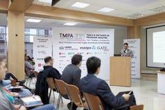 Διατριβή του Bertrand Meyer στη διάσκεψη TMPA Στοκ φωτογραφίες με δικαίωμα ελεύθερης χρήσης