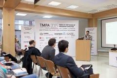 Διατριβή του Bertrand Meyer στη διάσκεψη TMPA Στοκ Εικόνα