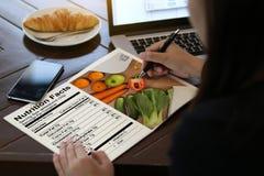 Διατροφής γεγονότων γλουτένης ελεύθερη διατροφή ασθενειών τροφίμων κοιλιακή, Hea στοκ εικόνες με δικαίωμα ελεύθερης χρήσης