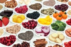 Διατροφή για μια υγιή καρδιά στοκ εικόνα