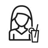 Διατροφή γυναικών Στοκ εικόνα με δικαίωμα ελεύθερης χρήσης