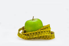 Διατροφή και μήλο Στοκ Εικόνες