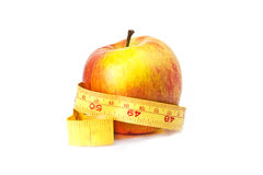 Διατροφή της Apple με το διάστημα για τους αριθμούς Στοκ Φωτογραφία