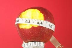 Διατροφή Apple και μετρητής Στοκ Εικόνα
