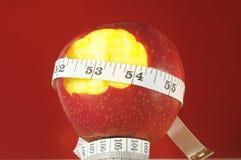 Διατροφή Apple και μετρητής Στοκ Εικόνες