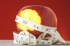 Διατροφή Apple και μετρητής Στοκ φωτογραφία με δικαίωμα ελεύθερης χρήσης