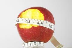 Διατροφή Apple και μετρητής Στοκ φωτογραφίες με δικαίωμα ελεύθερης χρήσης