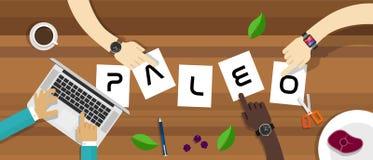 Διατροφή Paleo στο κείμενο απεικόνιση αποθεμάτων