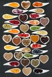 Διατροφή Superfood για μια υγιή καρδιά στοκ φωτογραφίες