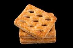 Διατρυπημένο τετράγωνο μπισκότο Στοκ Φωτογραφία