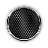 Διατρυπημένο χρώμιο κουμπί μετάλλων διανυσματική απεικόνιση