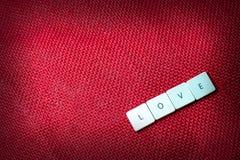 Διατύπωση της αγάπης Στοκ Εικόνα