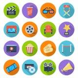 διαφάνεια σκηνικού κινηματογράφου εικονιδίων 10 editable eps πλήρως διανυσματική απεικόνιση