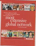 Διαφήμιση αφισών του Newsweek στο περιοδικό από τον Οκτώβριο του 2005, πιό εκτενές σύνθημα παγκόσμιων δικτύων στοκ εικόνα με δικαίωμα ελεύθερης χρήσης