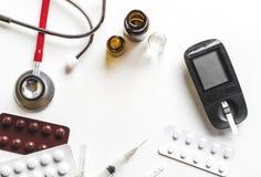 Διαφήμιση διαβήτη ιατρικής και έννοια υγειονομικής περίθαλψης Στοκ φωτογραφία με δικαίωμα ελεύθερης χρήσης