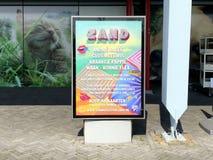Διαφήμιση πινάκων διαφημίσεων του ολλανδικού φεστιβάλ ZAND παραλιών στοκ φωτογραφίες