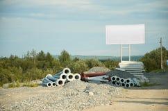 Διαφήμιση στην κατασκευή Στοκ φωτογραφία με δικαίωμα ελεύθερης χρήσης