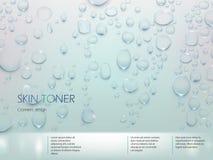 Διαφήμιση της αφίσας για το τονωτικό δερμάτων ελεύθερη απεικόνιση δικαιώματος