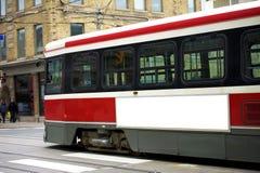 Διαφήμιση τραμ στοκ φωτογραφία