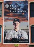 Διαφήμιση Pinstripes πάθους υπερηφάνειας των New York Yankees στοκ εικόνα