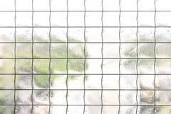 Διαφανές γυαλί με το κιγκλίδωμα Στοκ φωτογραφίες με δικαίωμα ελεύθερης χρήσης