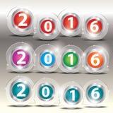 Διαφανές διανυσματικό έμβλημα μπαλονιών με το εικονίδιο, για την παρουσίαση Στοκ Εικόνα