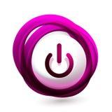 Διαφανές κουμπί έναρξης δύναμης επίδρασης γυαλιού, επάνω από το εικονίδιο, διανυσματικό UI ή app το σχέδιο συμβόλων Στοκ Εικόνες
