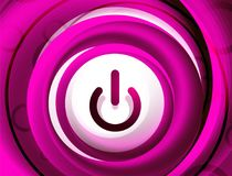 Διαφανές κουμπί έναρξης δύναμης επίδρασης γυαλιού, επάνω από το εικονίδιο, διανυσματικό UI ή app το σχέδιο συμβόλων Στοκ φωτογραφίες με δικαίωμα ελεύθερης χρήσης