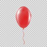 Διαφανές κόκκινο μπαλόνι ηλίου Στοκ εικόνες με δικαίωμα ελεύθερης χρήσης