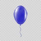 Διαφανές μπλε μπαλόνι ηλίου Στοκ φωτογραφίες με δικαίωμα ελεύθερης χρήσης