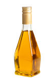 Διαφανές μπουκάλι γυαλιού του φυτικού ελαίου Στοκ εικόνα με δικαίωμα ελεύθερης χρήσης
