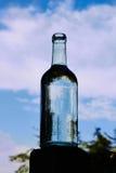 Διαφανές μπουκάλι γυαλιού Στοκ εικόνα με δικαίωμα ελεύθερης χρήσης