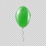 Διαφανές πράσινο μπαλόνι ηλίου Στοκ Φωτογραφίες