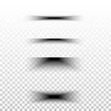 Διαφανές ρεαλιστικό σύνολο επίδρασης σκιών εγγράφου Έμβλημα Ιστού Στοκ Εικόνες