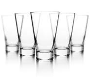 Διαφανές σύνολο γυαλιού Στοκ Φωτογραφίες