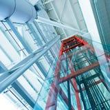 Διαφανής ανελκυστήρας στοκ φωτογραφίες