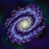 Διαφανής διανυσματική επίδραση γαλαξιών Διαστημικό υπόβαθρο αποθεμάτων απεικόνιση αποθεμάτων