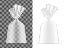 Διαφανής κενή συσκευασία φύλλων αλουμινίου ή εγγράφου Σακούλι για το ψωμί, cof διανυσματική απεικόνιση