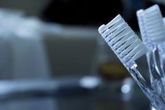 Διαφανής κινηματογράφηση σε πρώτο πλάνο Toothbrushe στοκ εικόνες