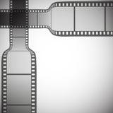 Διαφανής λουρίδα ταινιών στο γκρίζο διάνυσμα υποβάθρου Στοκ εικόνα με δικαίωμα ελεύθερης χρήσης