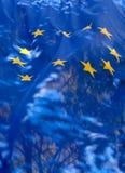 Διαφανής σημαία της Ευρωπαϊκής Ένωσης Στοκ εικόνα με δικαίωμα ελεύθερης χρήσης